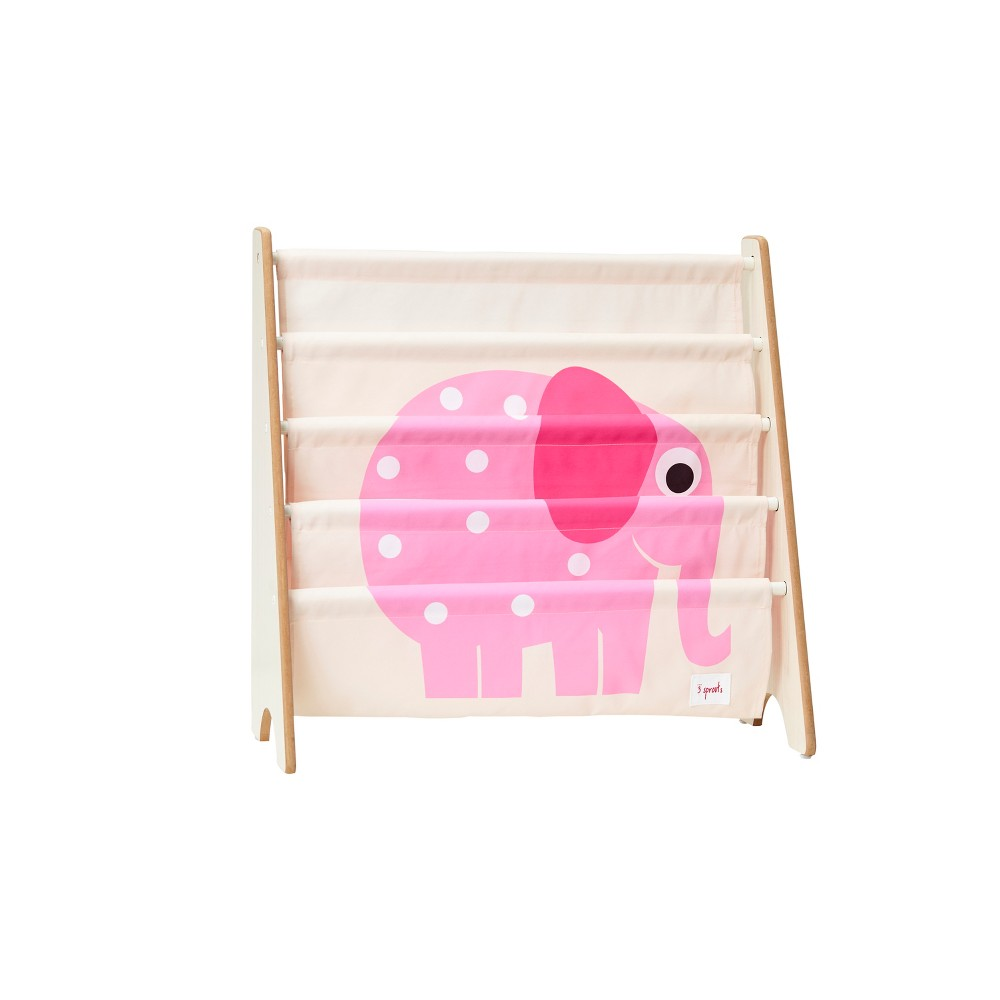 Image of 3 Sprouts Kids Bookcase Rack Elephant Print