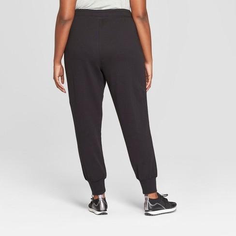 059bae84b20 Women s Plus Size Jogger Ankle Pants - Ava   Viv™ Black   Target