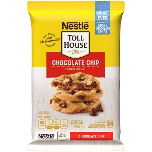 Nestle Tollhouse Chocolate Chip Cookie Dough - 16oz - image 1 of 4