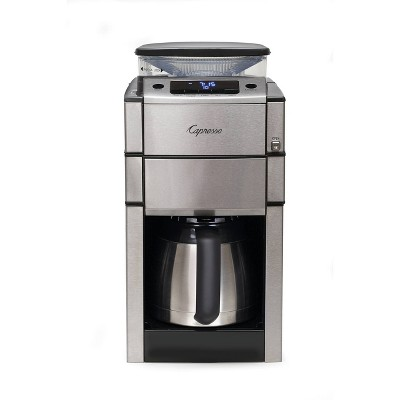 Capresso 10-Cup Coffee Maker with Burr Grinder/Thermal Carafe – Stainless Steel CoffeeTEAM 488.05