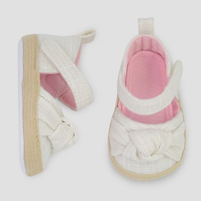 Baby Girls' Espadrille - Just One You® made by carter's White Newborn