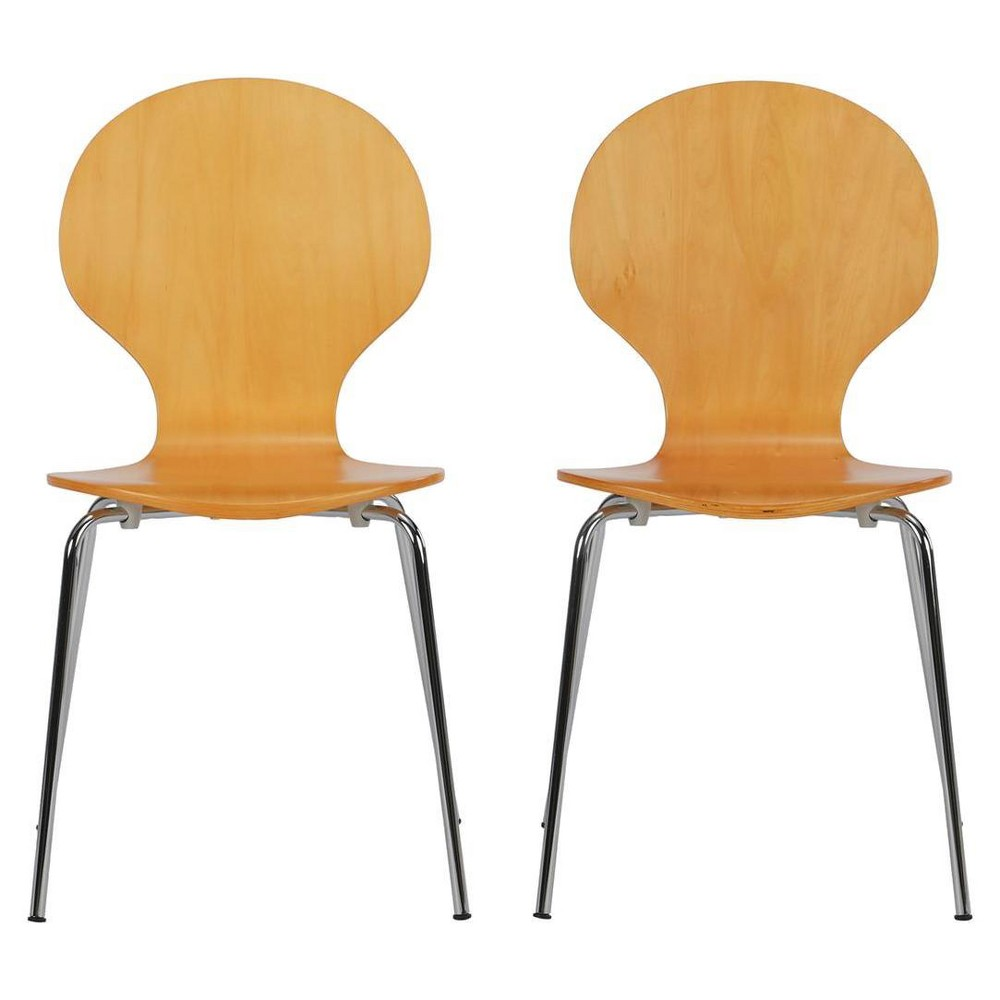 Bentwood Shell Dining Chair (Set Of 2) - Natural - Dorel Home Products