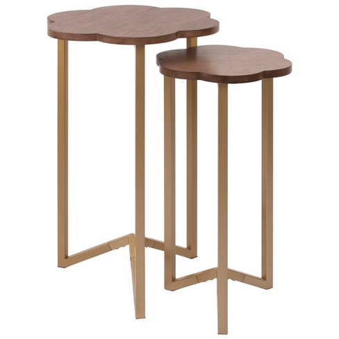 Silverwood 2pc Daphne Nesting Accent Tables Gold - image 1 of 5