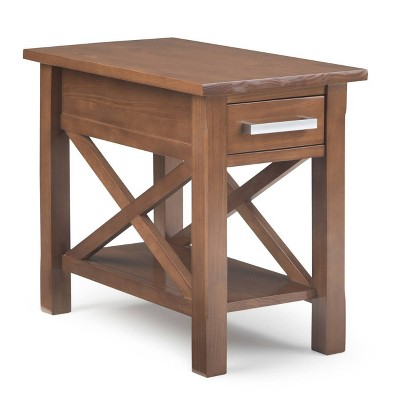"14"" Waterloo Narrow Side Table Saddle Brown - Wyndenhall"