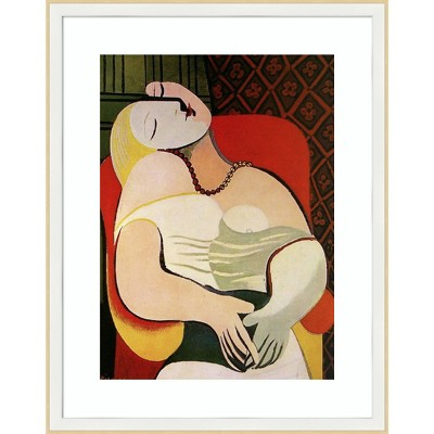 """19"""" x 24"""" The Dream 1932 by Pablo Picasso Framed Wall Art Print - Amanti Art"""