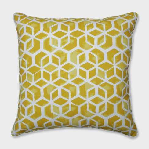 "25"" Celtic Pineapple Floor Pillow Yellow - Pillow Perfect - image 1 of 1"