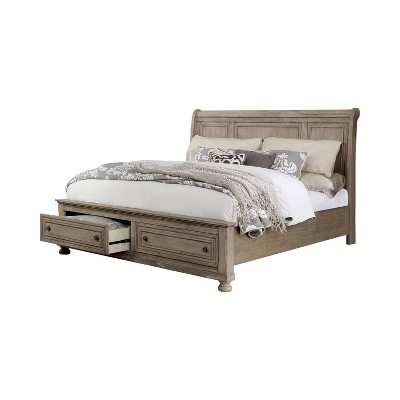 Earl Footboard Drawers Sleigh Bed California King Gray - ioHOMES