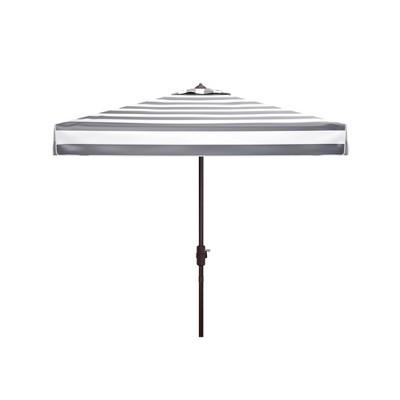 7.5' Square Elsa Fashion Line Umbrella Black/White - Safavieh