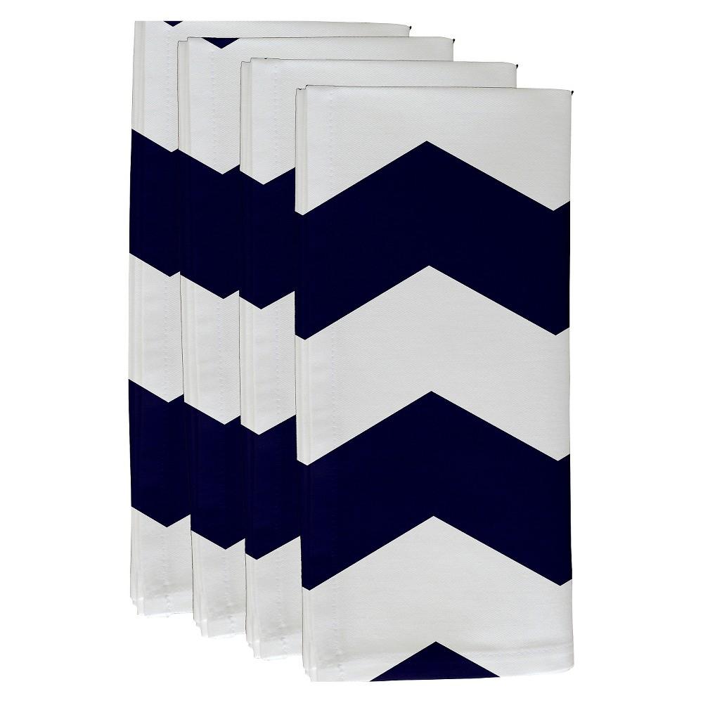 """Navy Geometric Throw Napkin Set (19""""X19"""") - E By Design, ..."""