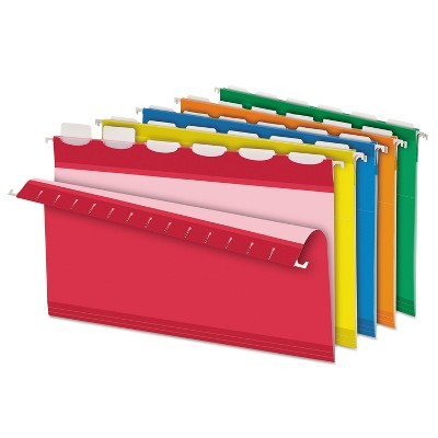Pendaflex Colored Reinforced Hanging Folders 1/6 Tab Legal Asst 25/Box 42593