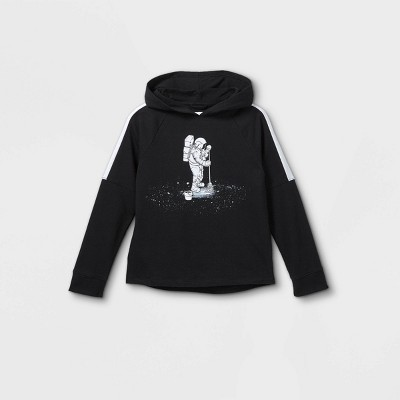 Boys' French Terry Hooded Sweatshirt - Cat & Jack™ Black