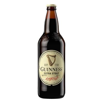 Guinness Extra Stout Beer - 22 fl oz Bottle