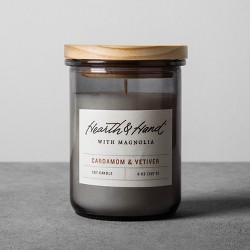 8oz Lidded Jar Container Candle Cardamom & Vetiver - Hearth & Hand™ with Magnolia