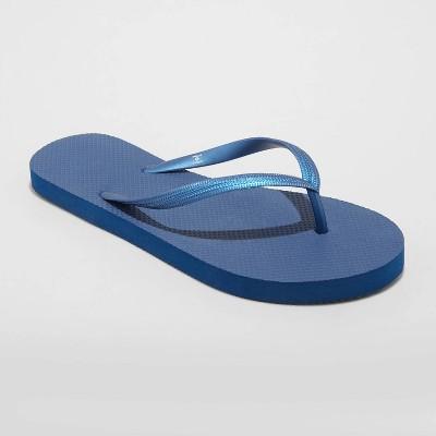 Women's Brynn Flip Flop Sandals - Shade & Shore™ Navy 6