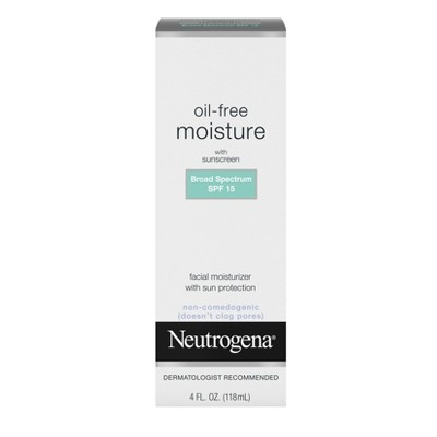Neutrogena Oil Free Facial Moisturizer SPF 15 Sunscreen & Glycerin - 4 fl oz