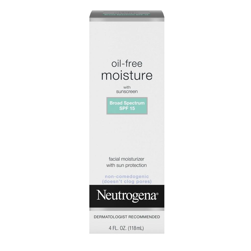 Neutrogena Oil Free Facial Moisturizer Spf 15 Sunscreen 38 Glycerin 4 Fl Oz