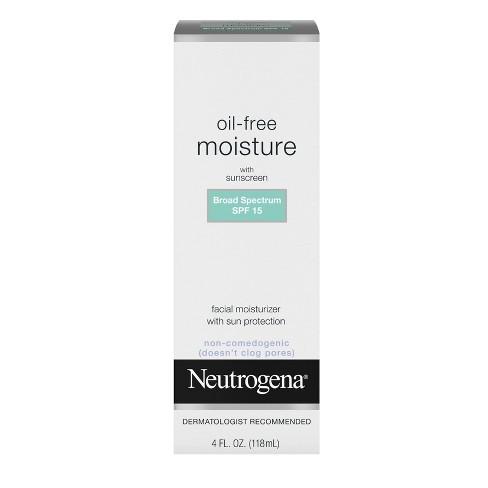 Neutrogena Oil Free Facial Moisturizer SPF 15 Sunscreen & Glycerin - 4 fl oz - image 1 of 4