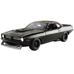 "1970 Plymouth Barracuda Trans Am Matt Black ""Street Version"" Limited Edition to 522 pieces 1/18 Diecast Model by Acme"