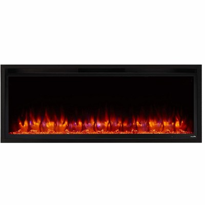 SimpliFire Allusion Platinum Wall Mount Electric Fireplace