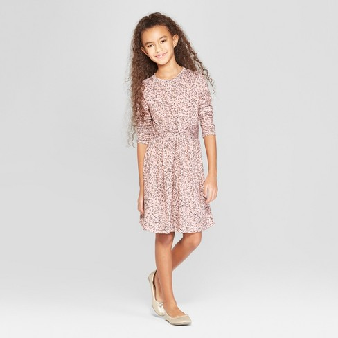 1e20628004 Girls  Twist Front Dress - Art Class™ Pink   Target