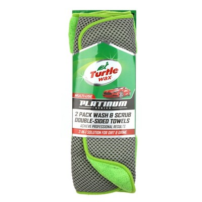 2pk 5 x16  Platinum Wash & Scrub Towels Green - Turtle Wax