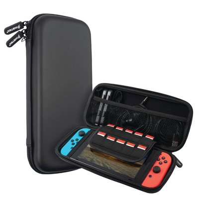 Insten Carry Case for Nintendo Switch - Portable Hard Shell Travel Pouch for Console & Accessories, Black
