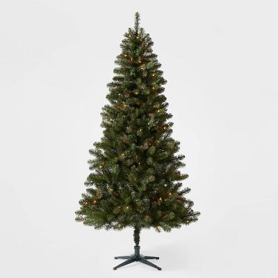 7ft Pre-lit Alberta Spruce Artificial Christmas Tree Multicolored Lights - Wondershop™