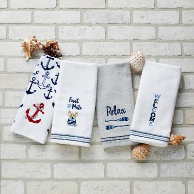 2pk Hand Towel Set Nautical Collection - SKL Home