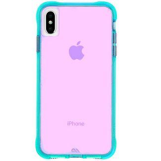 Case-Mate iPhone Xs Max Tough Neon Turquoise Purple Neon Case