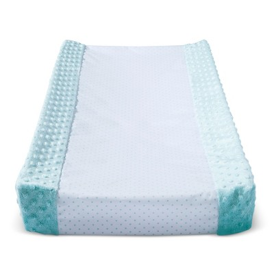 Wipeable Changing Pad Cover with Plush Sides Dots - Cloud Island™ Aqua