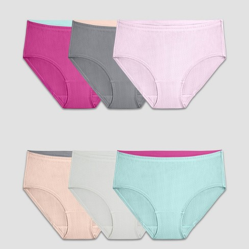 Fruit of the Loom Women's 6pk Breathable Micro-Mesh Low-Rise Briefs - Assorted - image 1 of 2