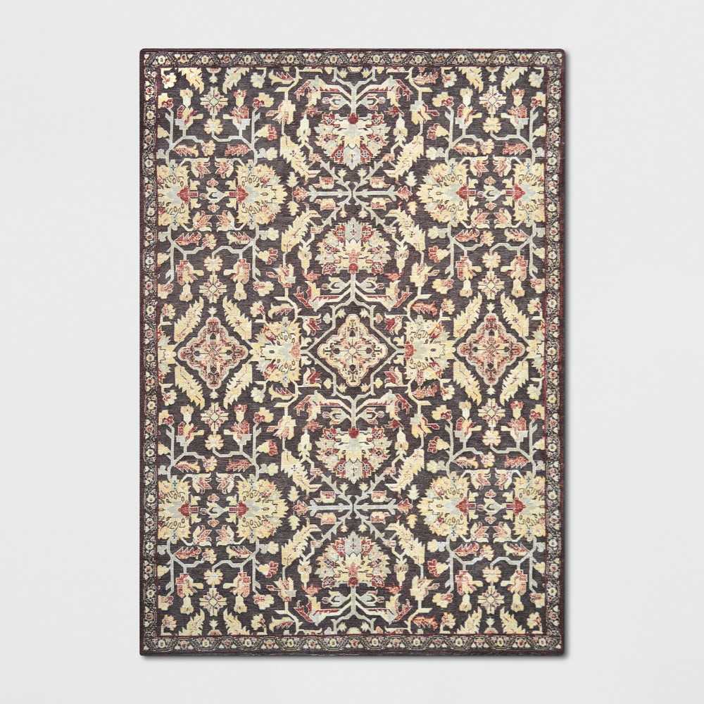 7 39 x10 39 Duffield Chenille Tapestry Persian Floral Woven Area Rug Threshold 8482