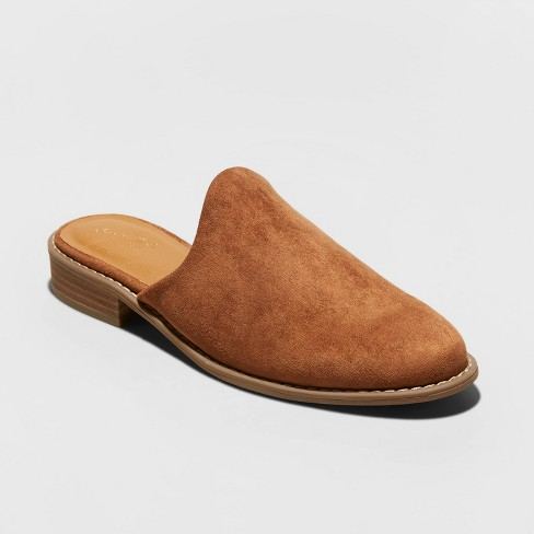 Women's Maura Microsuede Backless Mules - Universal Thread™ - image 1 of 3