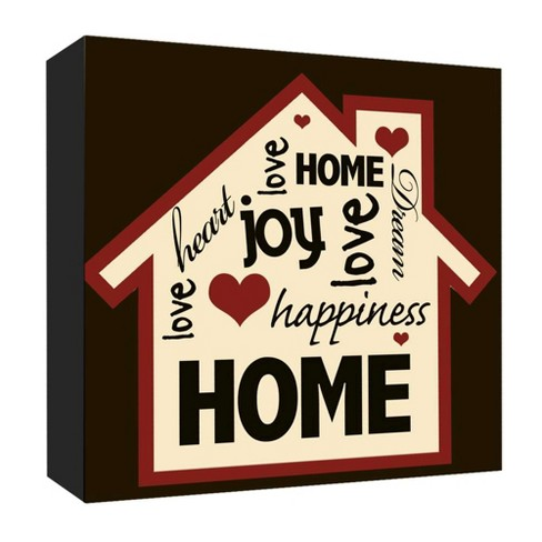 """16"""" x 16"""" Home Happiness Decorative Wall Art - PTM Images - image 1 of 1"""