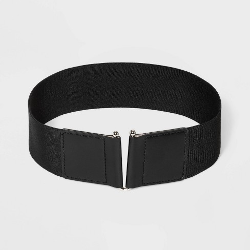 Women's U Closure Belt - A New Day™ Black - image 1 of 2
