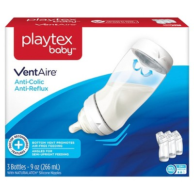 Playtex Baby VentAire Complete Tummy Comfort 9oz 3pk Baby Bottle