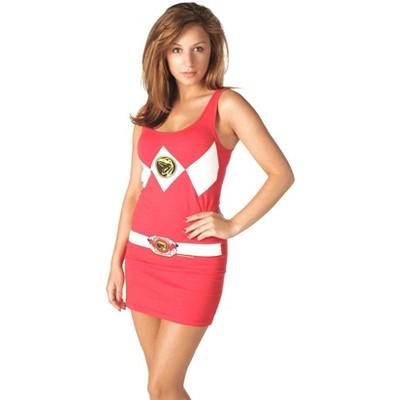Mighty Fine Power Rangers Red Power Ranger Adult Tank Dress