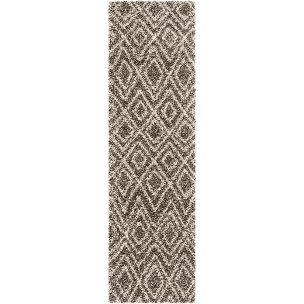 22X8 Geometric Loomed Runner Gray/Ivory - Safavieh Coupons