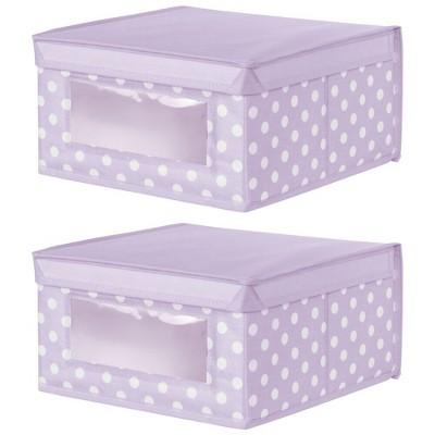 mDesign Soft Fabric Child/Kid Storage Organizer Box - 2 Pack