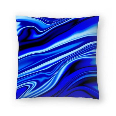 Americanflat Blue Streak by Ashley Camille Throw Pillow