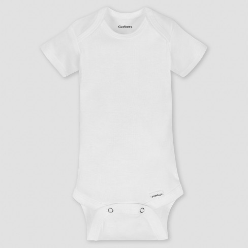 1cf726012 Gerber Baby Organic Cotton 5pk Organic Short Sleeve Onesies White   Target