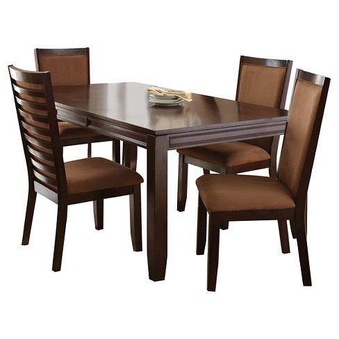 5 Piece Colleen Dining Set Wood/Brown - Steve Silver Company - image 1 of 4