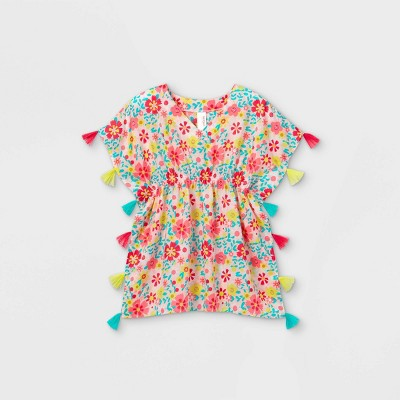 Girls' Floral Woven Caftan Cover Up - Cat & Jack™