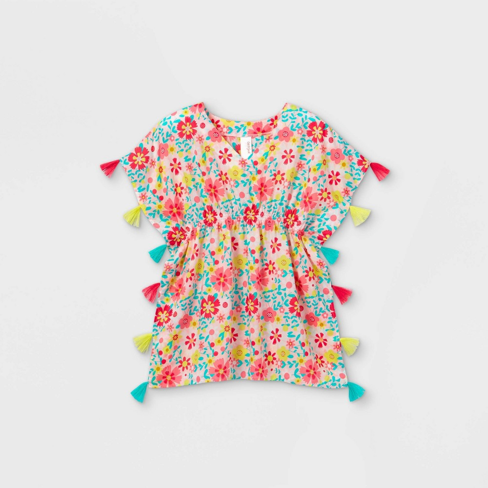 Girls 39 Floral Woven Caftan Cover Up Cat 38 Jack 8482 S