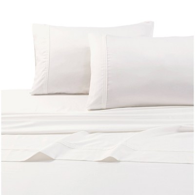 Queen 500 Thread Count Oversized Flat Sheet Ivory - Tribeca Living