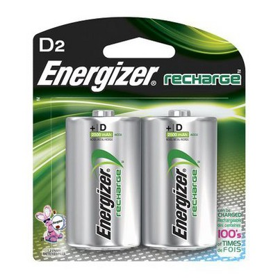 Energizer Recharge D Nickel Metal Hydride Batteries 2 ct - (NH50BP-2)