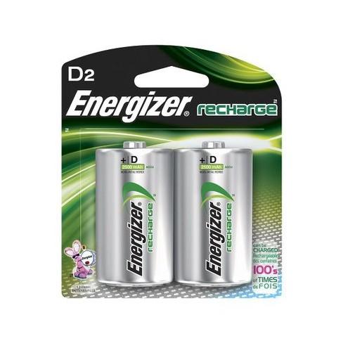 Nickel Metal Hydride Battery >> Energizer Recharge D Nickel Metal Hydride Batteries 2 Ct Nh50bp 2