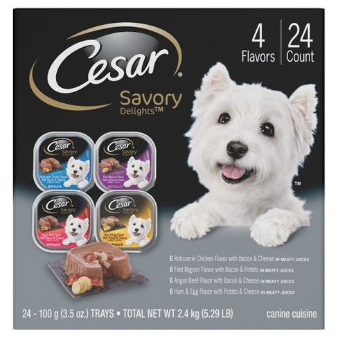 CESAR Savory Delights Variety Pack Wet Dog Food - 24ct - image 1 of 4