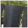 Fairfield 9pc Wicker Dining Set - Black - Christopher Knight Home - image 3 of 4