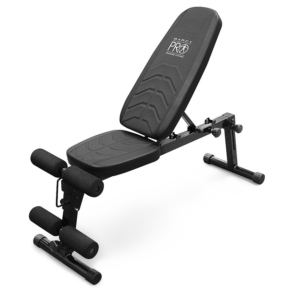 Marcy Pro Deluxe Folding Utility Weight Bench (PM-10110), Black